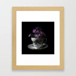 Botanical Tea Cup Framed Art Print