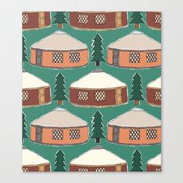Cozy Yurts -n- Pines Canvas Print