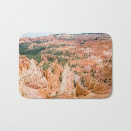 Bryce Canyon | Nature Landscape Photography of Rocky Orange Hoodoo Formations in Utah Desert Bath Mat