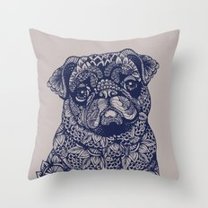 MANDALA OF PUG Throw Pillow