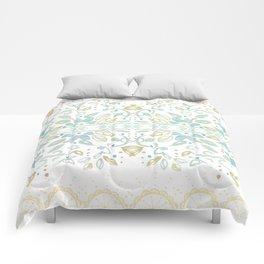 Boho floral Comforters