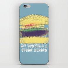 Veggie Burger (blue) iPhone & iPod Skin