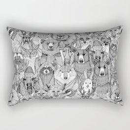 canadian animals black white Rectangular Pillow