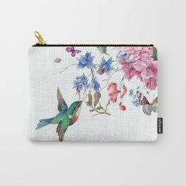 bird on flower Carry-All Pouch
