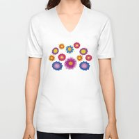 ukraine V-neck T-shirts featuring Sunny Ukraine by rusanovska