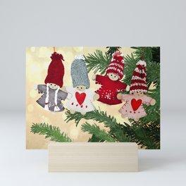 Christmas tree dolls Mini Art Print