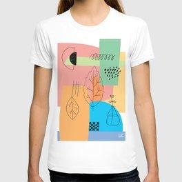 Floral Seasons Illustration Digital Collage T-shirt