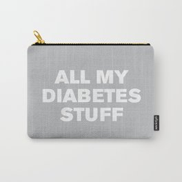 All My Diabetes Stuff (Gray) Carry-All Pouch