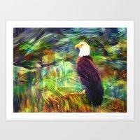 West Coast Eagle Art Print