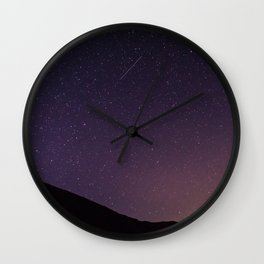 Teide by Night Skies Wall Clock