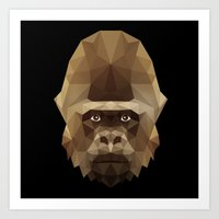 gorilla Art Prints featuring Gorilla by Taranta Babu