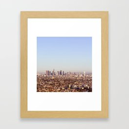 Downtown Los Angeles Skyline - Los Angeles Iconic Framed Art Print