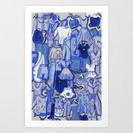BLUE CLOTHES Art Print