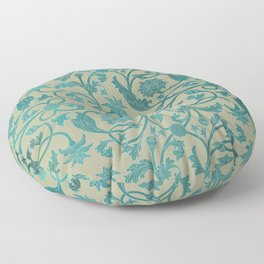Blue Lotus Pattern Floor Pillow