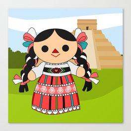 Maria 4 (Mexican Doll) Canvas Print