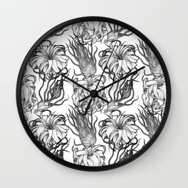 Tillandsia Tile Wall Clock