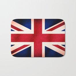 Union Jack UK British Grunge Flag  Bath Mat