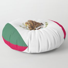 Mexico flag emblem Floor Pillow