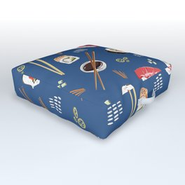 Sushi Party Outdoor Floor Cushion