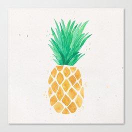Watercolor Pineapple Canvas Print