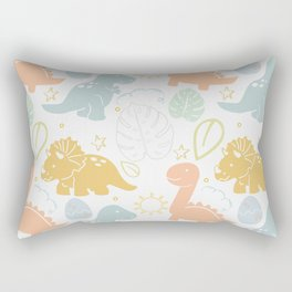 Dino Fun Rectangular Pillow