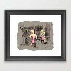 Ziegfield Ladies Framed Art Print