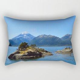 Lanin volcano. Patagonia Rectangular Pillow
