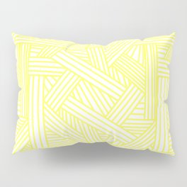 Sketchy Abstract (Light Yellow & White Pattern) Pillow Sham