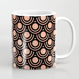 Mermaid Scales in Metallic Copper Bronze Gold Coffee Mug
