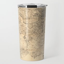 Map of the City of Boston and Vicinity (1907) Travel Mug