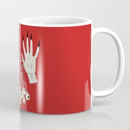 Creepy Hands Holding Eyes Coffee Mug