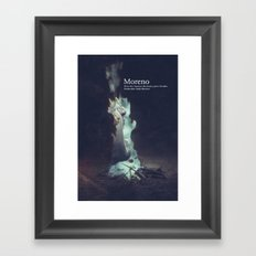 Moreno dvd cover Framed Art Print