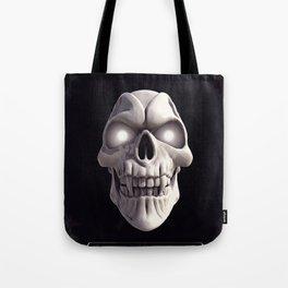 Skull with glowing eyes Tote Bag