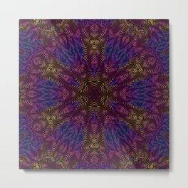 Orange Pink and Purple Kaleidosocope Metal Print