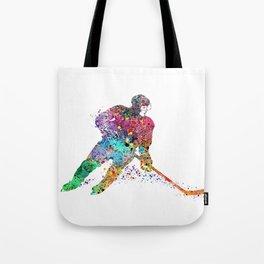 Girl Ice Hockey Sports Art Print Tote Bag