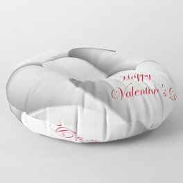 background paper hearts Floor Pillow