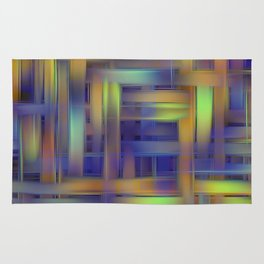 Multicolored wicker Rug