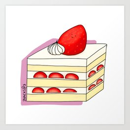 Strawberry Short Cake Art Print