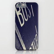 Bus Stop bw iPhone 6s Slim Case
