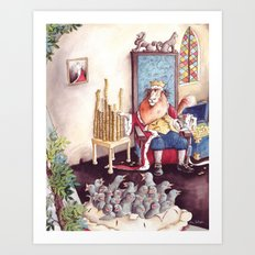 The King - Sing a Song of Sixpence Art Print