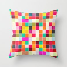 Colorful Rectangles Throw Pillow