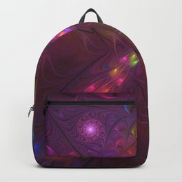 Colorful And Luminous Fractal Art Backpack