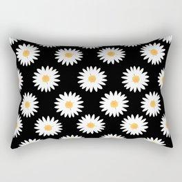 Daisy black pattern Rectangular Pillow