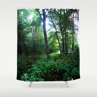 once upon a  time Shower Curtains featuring Once upon a time  by Françoise Reina