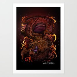 Dragon (Signature Design) Art Print