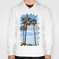 palm trees Hoodies featuring Palm Trees by Rebecca Bear