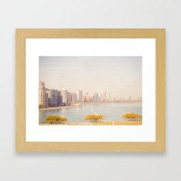 Summer In The City Chicago Framed Art Print