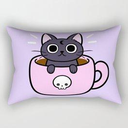 Pastel Coffee Cat Rectangular Pillow
