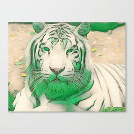 Green Tiger Canvas Print