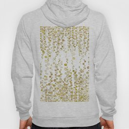 golden string of pearls watercolor Hoody